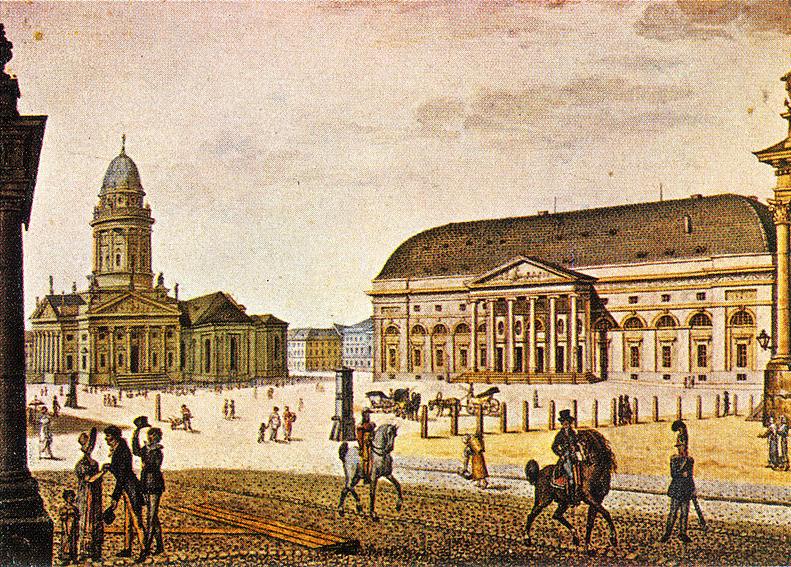 Gendarmenmarkt mit Nationaltheater (um 1815)