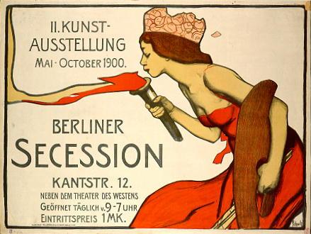 Plakat der Künstlervereinigung 'Berliner Secession' aus dem Jahr 1900