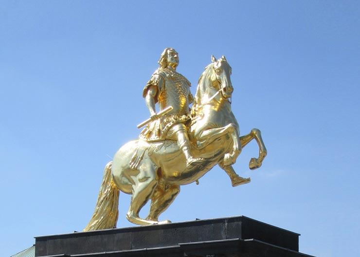 Goldener Reiter im Barockviertel