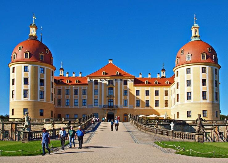 Blick auf das Schloss Moritzburg