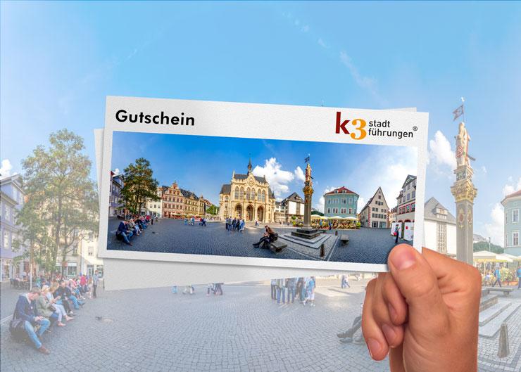 Gutschein für eine Stadtführung in Erfurt