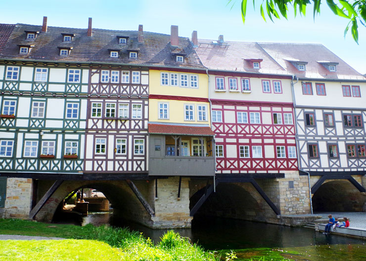 Wahrzeichen von Erfurt: Die Krämerbrücke