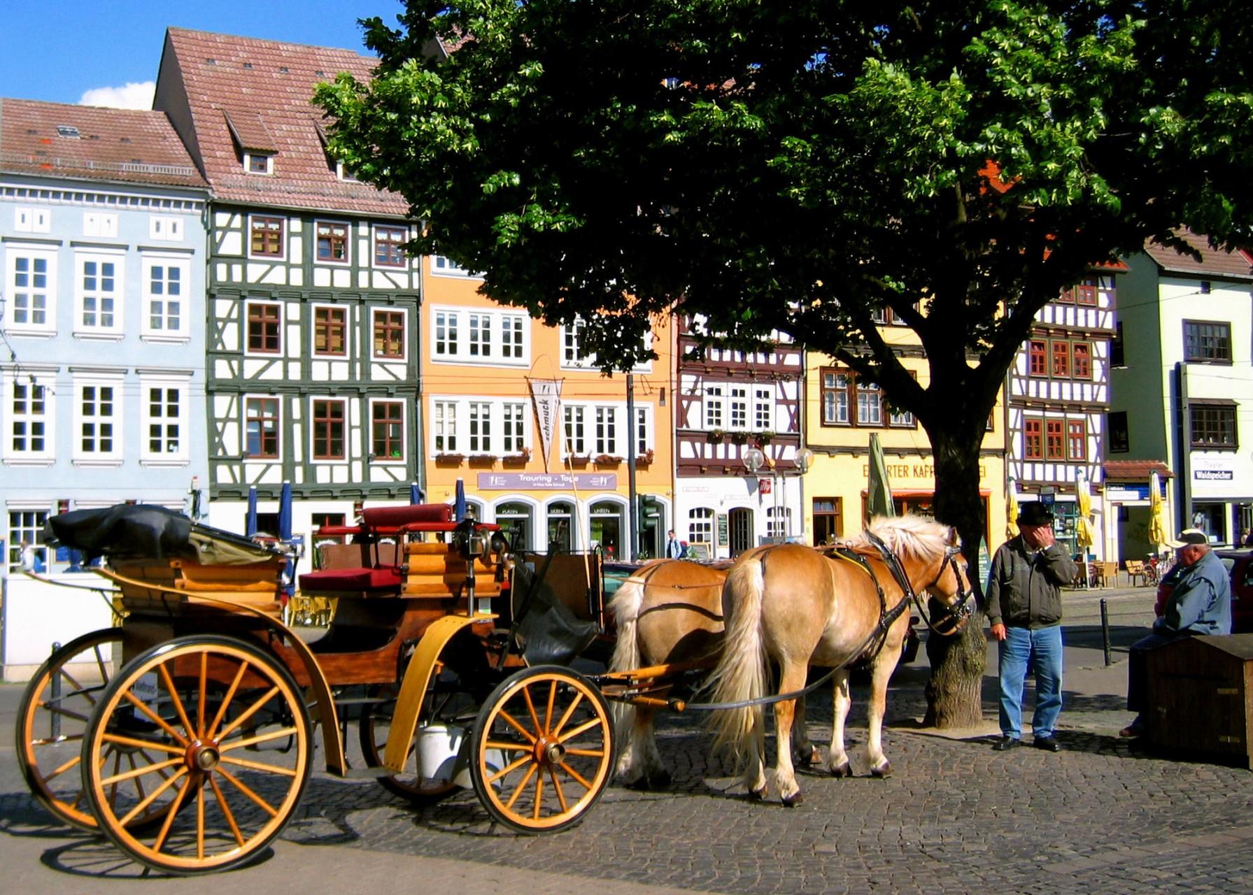 Stadtrundfahrt in Erfurt wie zu Goethes und Schillers Zeiten