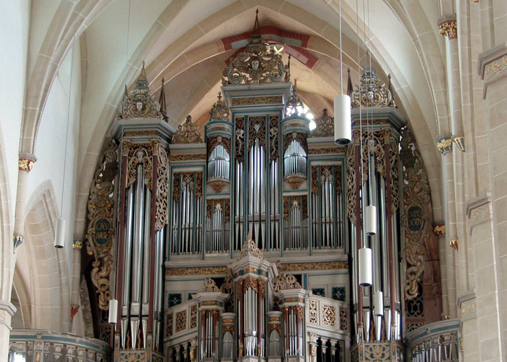 """Predigerkirche: Station der Stadtführung """"Erfurt musikalisch"""""""
