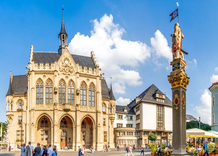 Rathaus am Fischmarkt in Erfurt