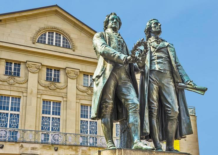 Station beim Stadtrundgang durch Weimar: Goethe und Schiller