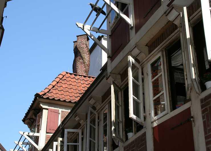 Detail der Krameramtsstuben in Hamburg