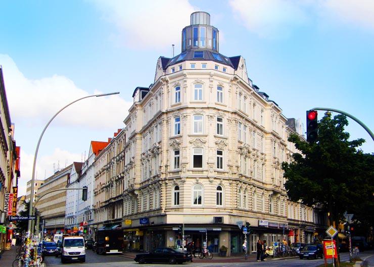 """Straße """"Schulterblatt"""" im Schanzenviertel Hamburg"""