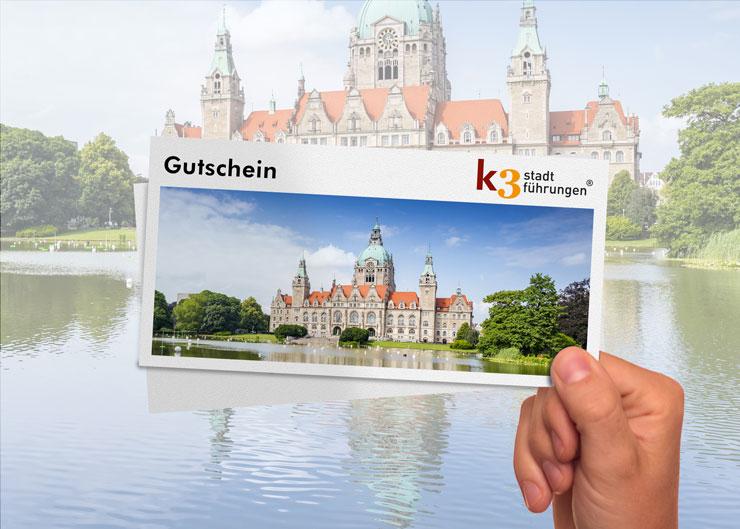 Gutschein für eine Stadtführung in Hannover