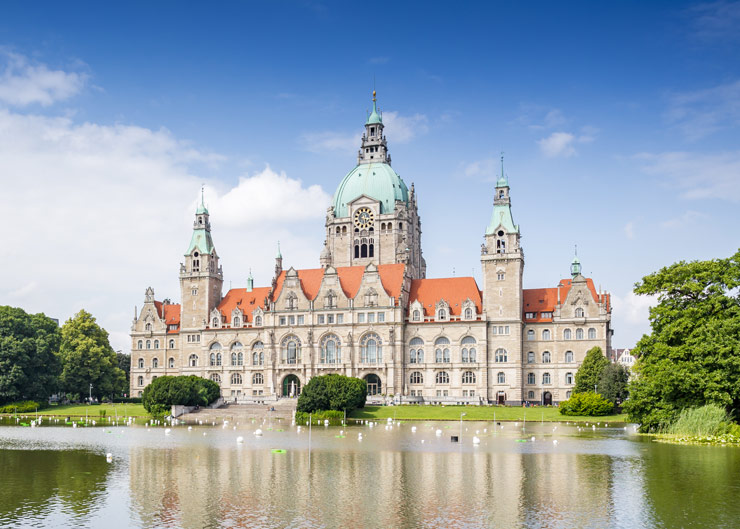 Sightseeing-Station in Hannover: Neues Rathaus