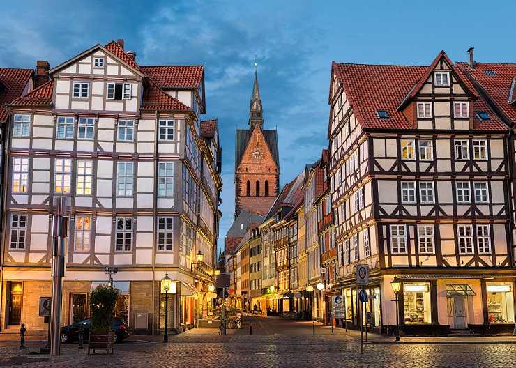 Blick auf Altstadt und Marktkirche in Hannover