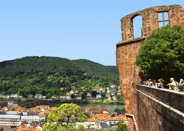 Schlossbesichtigung in Heidelberg