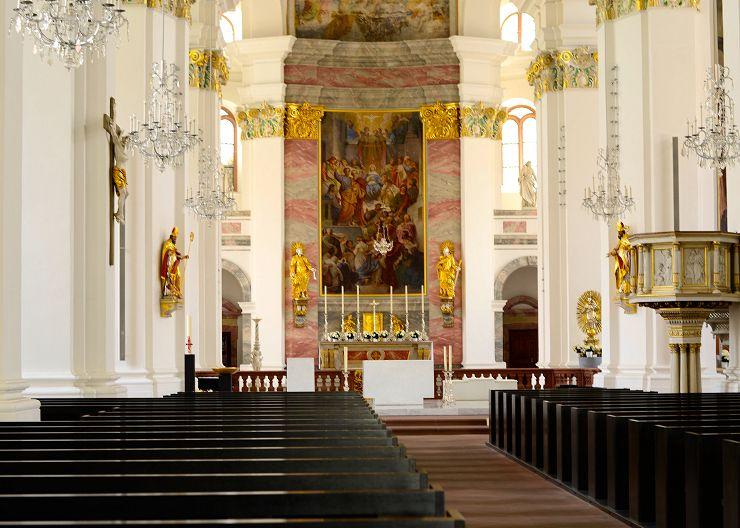 Barocke Jesuitenkirche in Heidelberg