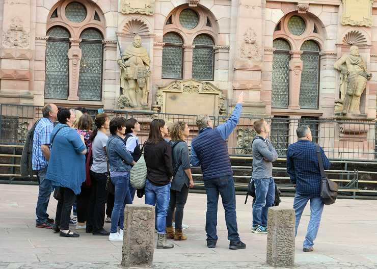 Sightseeing-Tour im Heidelberger Schloss