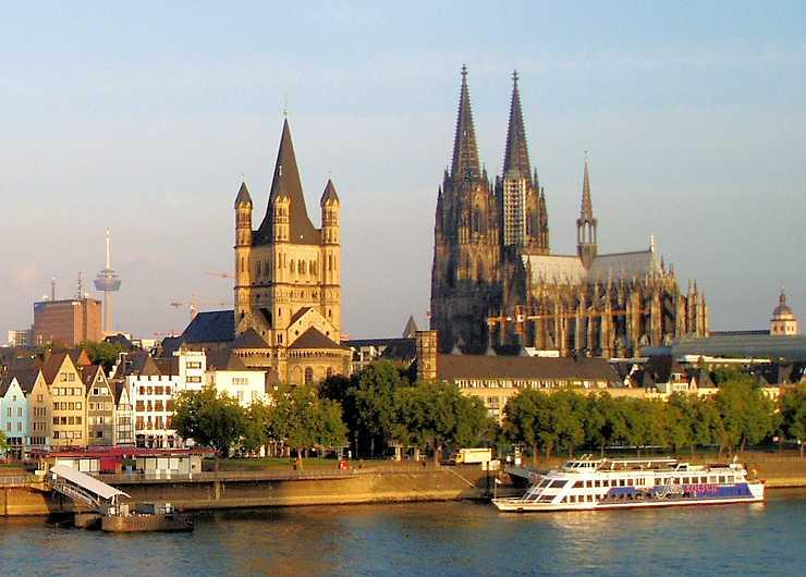 Stationen der Stadtführung in Köln: Dom und St. Groß Martin