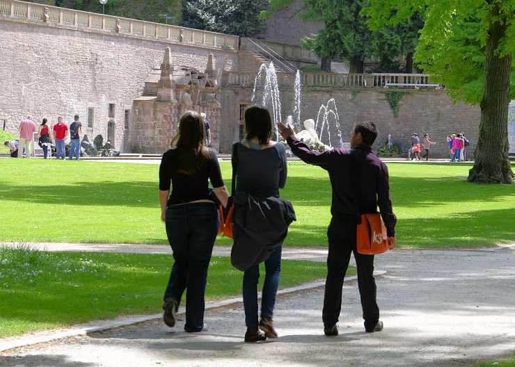 Führung durch den Park des Heidelberger Schlosses