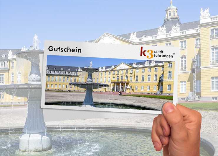 Gutschein für eine Stadtführung in Karlsruhe