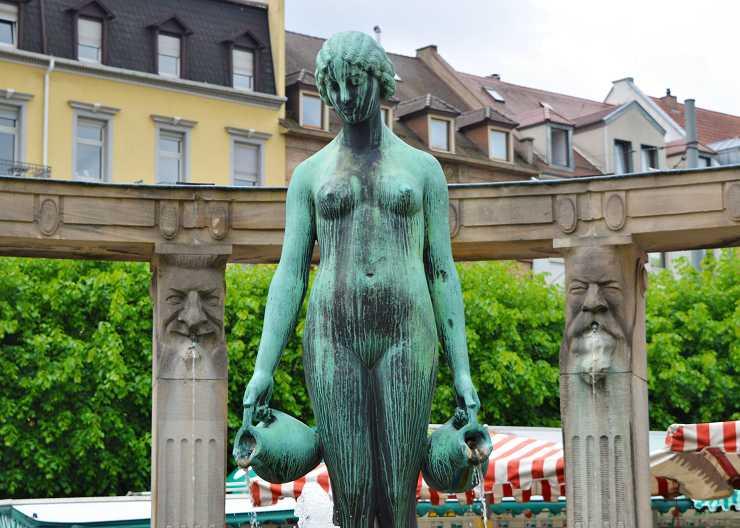 Brunnen auf dem Stephansplatz in Karlsruhe