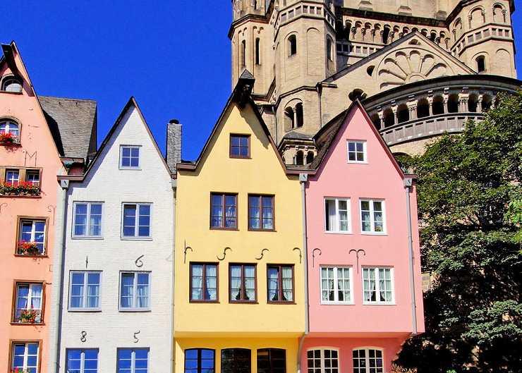 Station der Architekturführung Köln: Bürgerhäuser am Fischmarkt