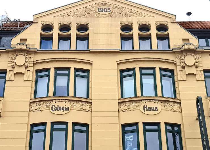 """Station der Tour """"Belgisches Viertel"""": Colonia Haus"""