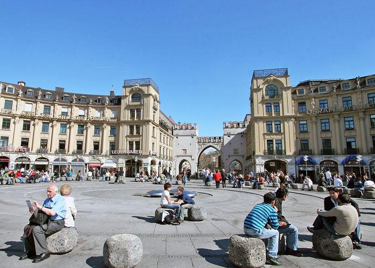 Karlsplatz in München, auch Stachus genannt