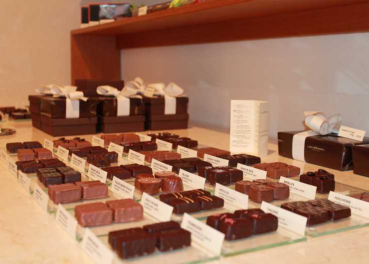Schokolade des Aux Chocolats
