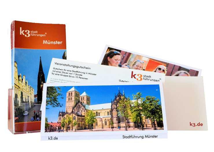 Gutschein für eine Veranstaltung von k3 stadtführungen