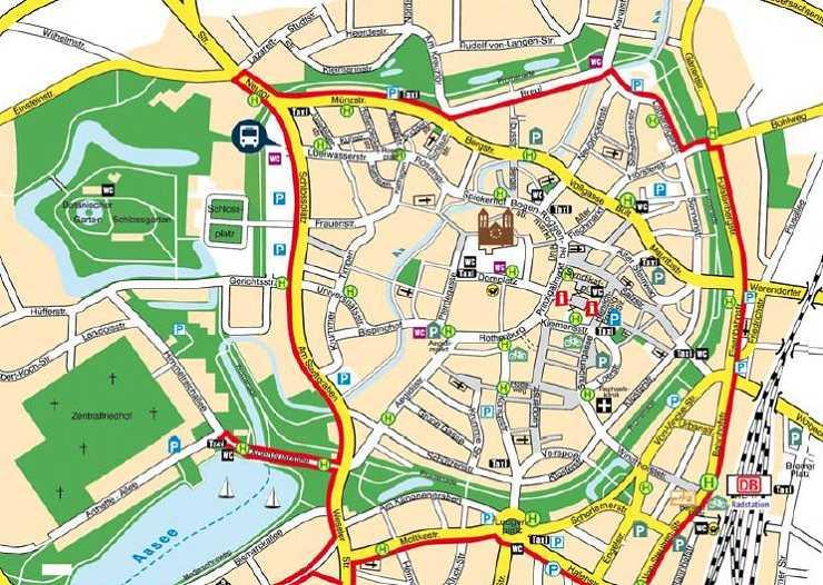 Stadtplan von Münster