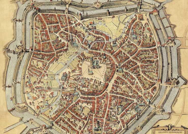 Historischer Stadtplan von Münster