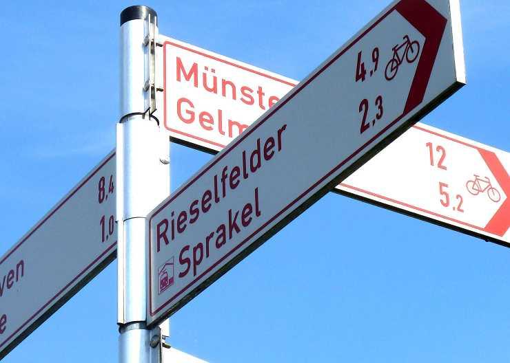 Fahrrad-Wegweiser Münsterland