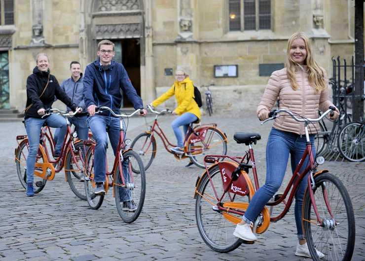 Fahrradtour mit Mieträdern von k3 stadtführungen