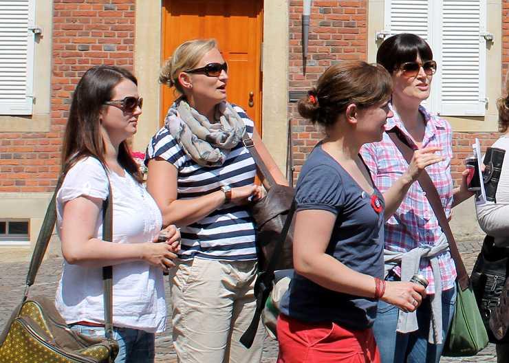 Krimiführung Münster vor dem Bischöflichen Generalvikariat