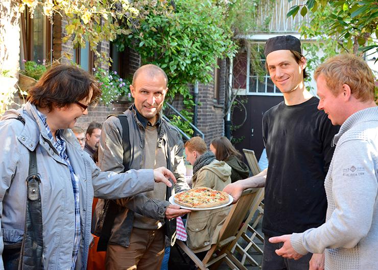 Gäste der kulinarischen Stadtführung