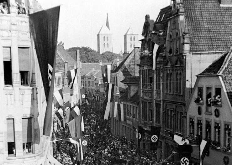 Nationalsozialistische Kundgebung in Münster
