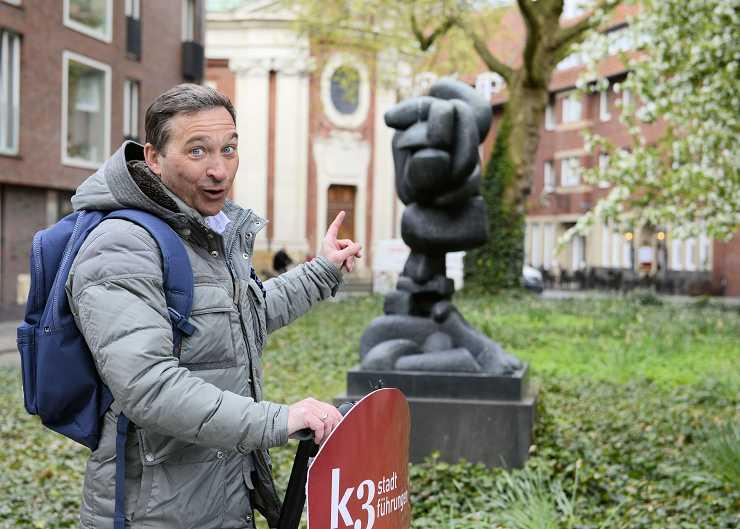 Per Segway zu den Skulptur Projekten