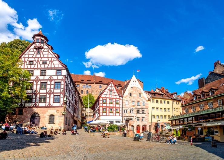 Stadtrundgang beim Tiergärtnertor in Nürnberg
