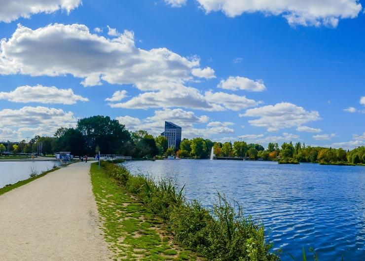 Station der Fahrradtour in Nürnberg: Der Wöhrder See
