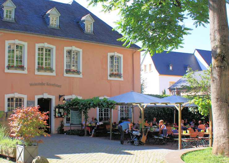 Garten der Weinstube Kesselstatt in Trier