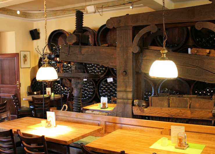 Innenansicht der Weinstube Kesselstatt Trier