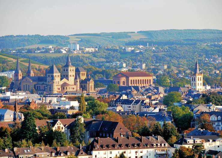 Stadtpanorama bei der Trier-Rundfahrt