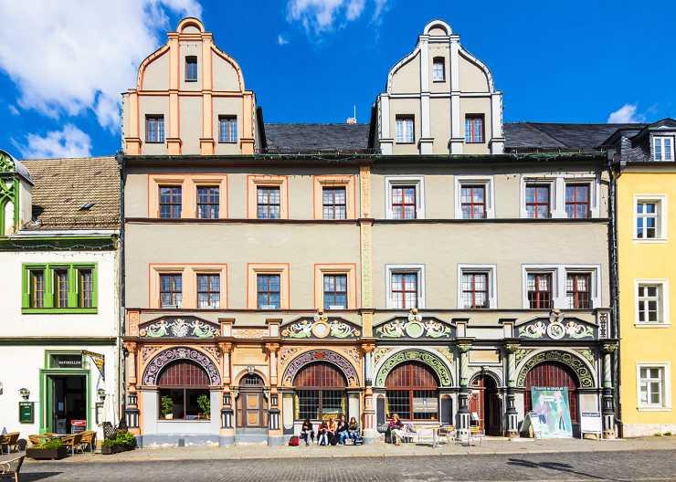 Station der Kunst-Führung am Cranachhaus